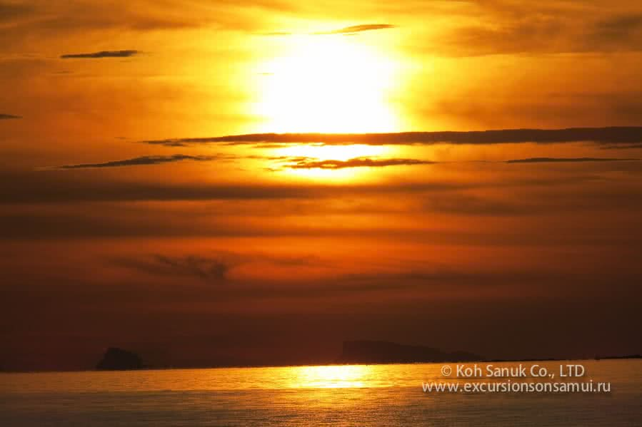 Sunset tour to Koh Tan by longtail boat, Koh Samui, Thailand
