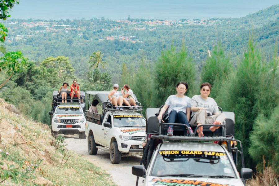 Jeep safari route 360, Koh Samui, Thailand