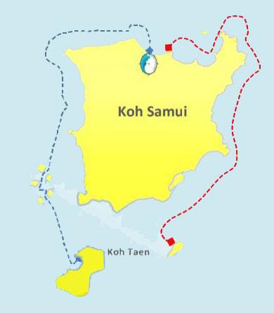 Action jet ski safari, Koh Samui