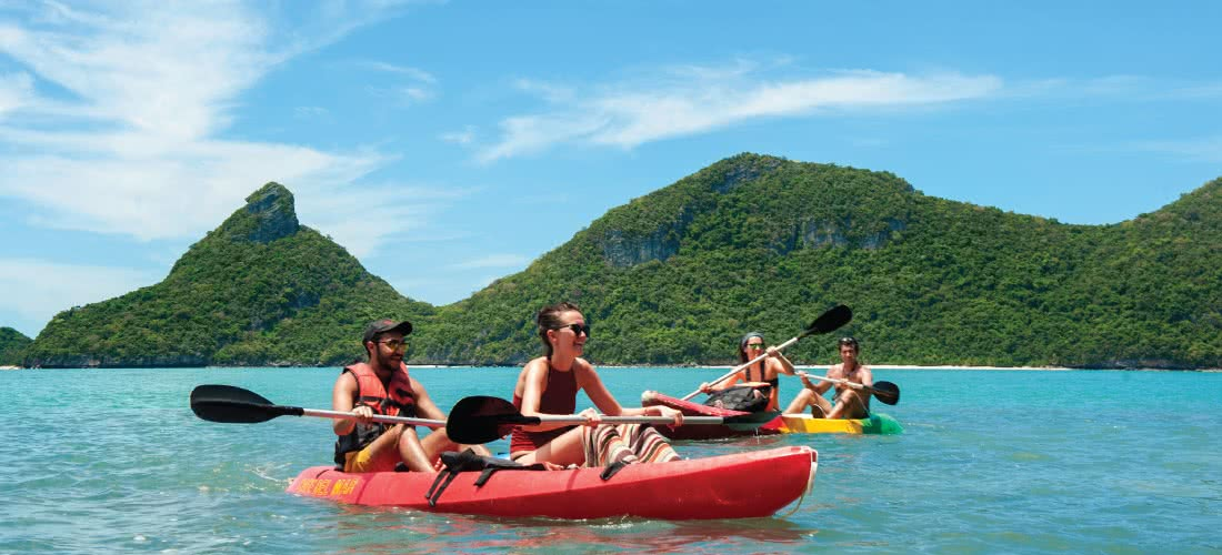 Big boat tour to Angthong marine park from Koh Phangan, Koh Samui, Thailand