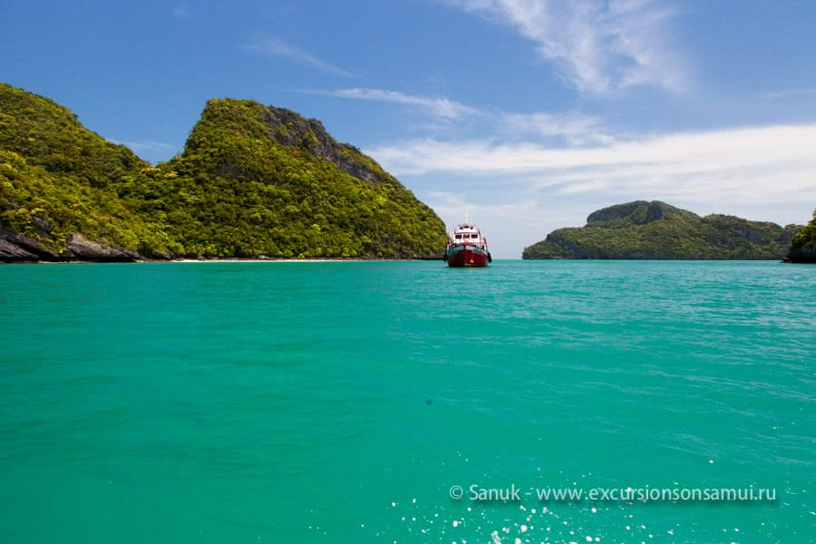 Tour from Koh Phangan to Angthong marine park by speedboat, Koh Samui, Thailand