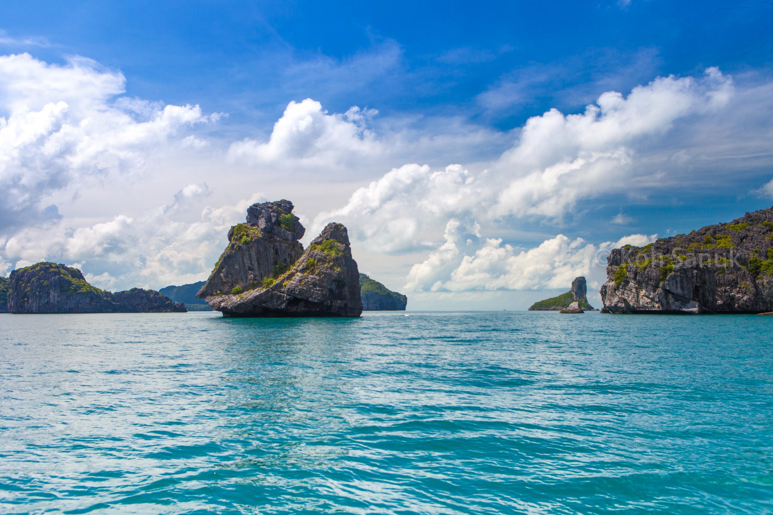 Romantic overnight at Koh Paluay, Angthong marine park, Koh Samui, Thailand
