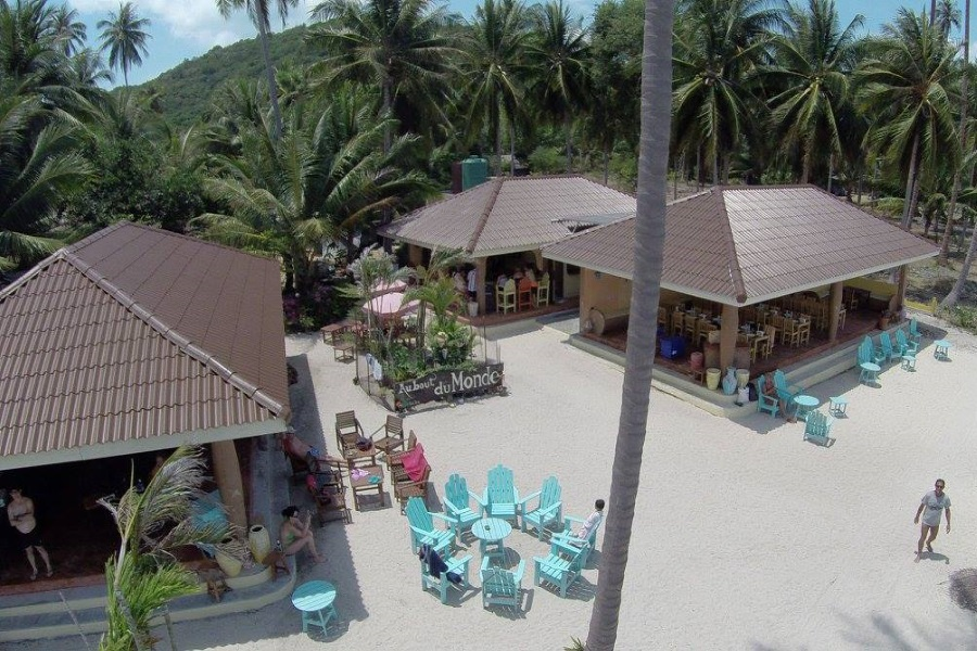 "Lunch at ""Au Bout Du Monde"" restaurant on Koh Tan, Koh Samui, Thailand"