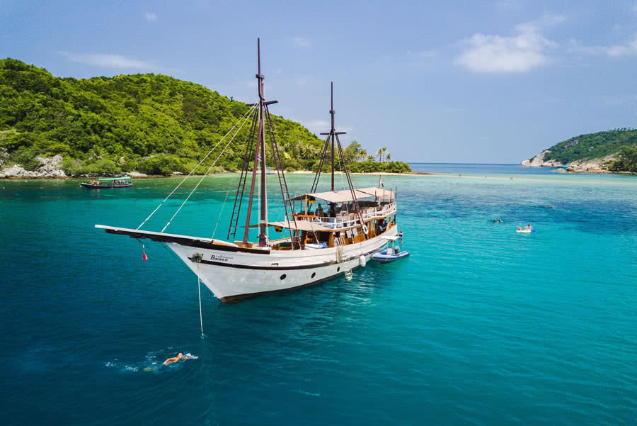 "Private cruises by ""Baidee"" sailing yacht, Koh Samui, Thailand"