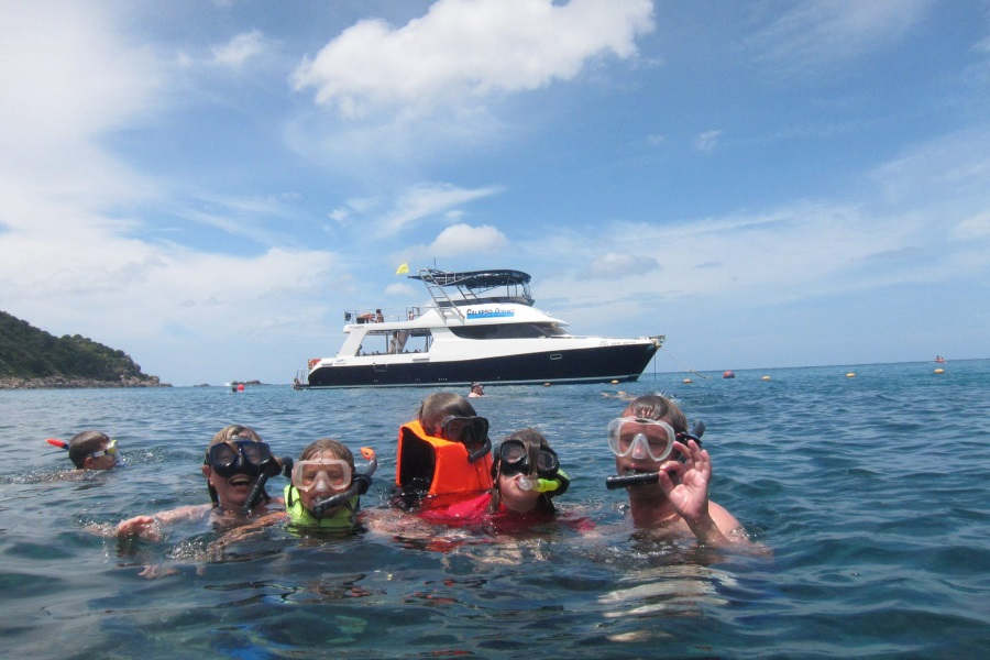 Diving and snorkeling by catamaran, Koh Samui, Thailand