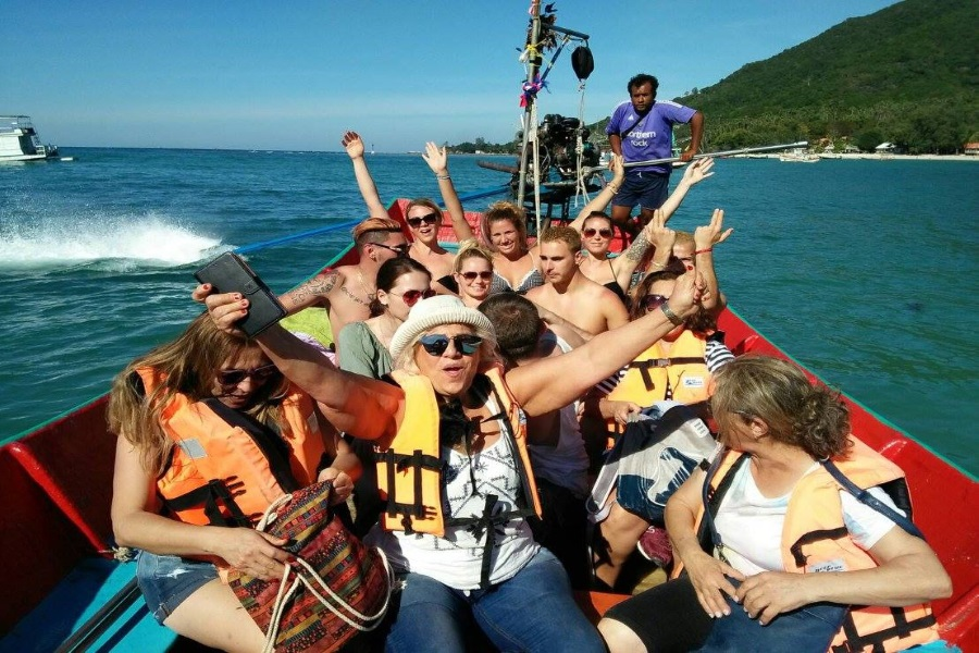 All in 1 adventure by car and by boat from Koh Phangan, Koh Samui, Thailand