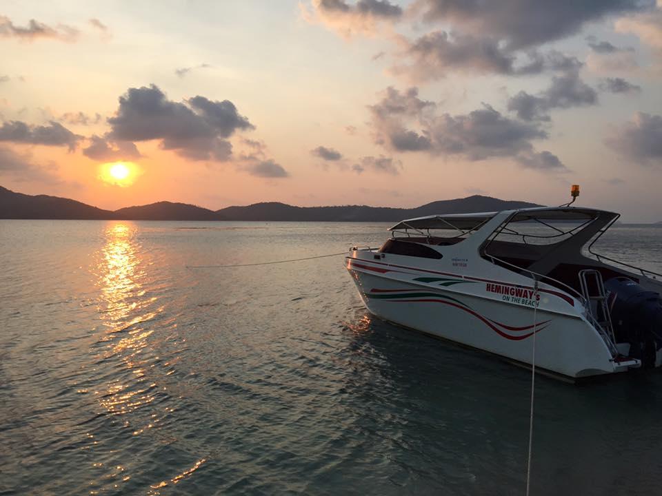 "Cruises to Koh Tan by one-engine speedboat ""Hemingway"", Koh Samui, Thailand"