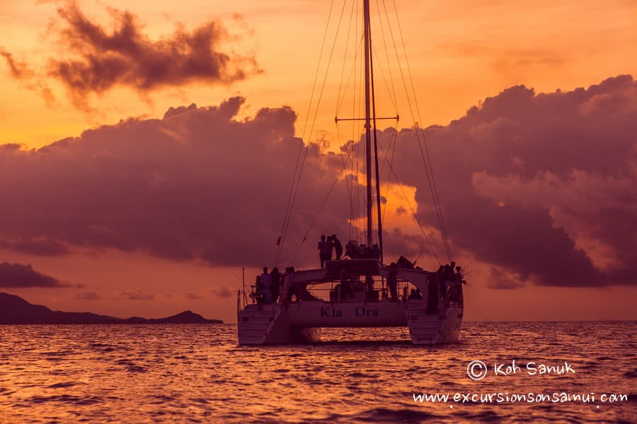 Cruises on sailing catamaran Kia Ora, Koh Samui, Thailand