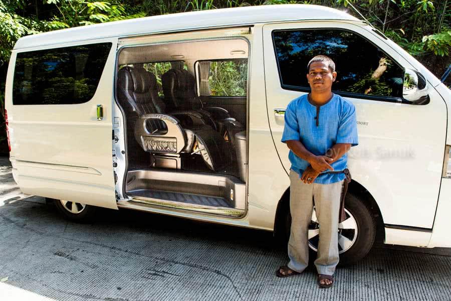Taxi booking, transfers by minibus, V.I.P. transfers, Koh Samui, Thailand
