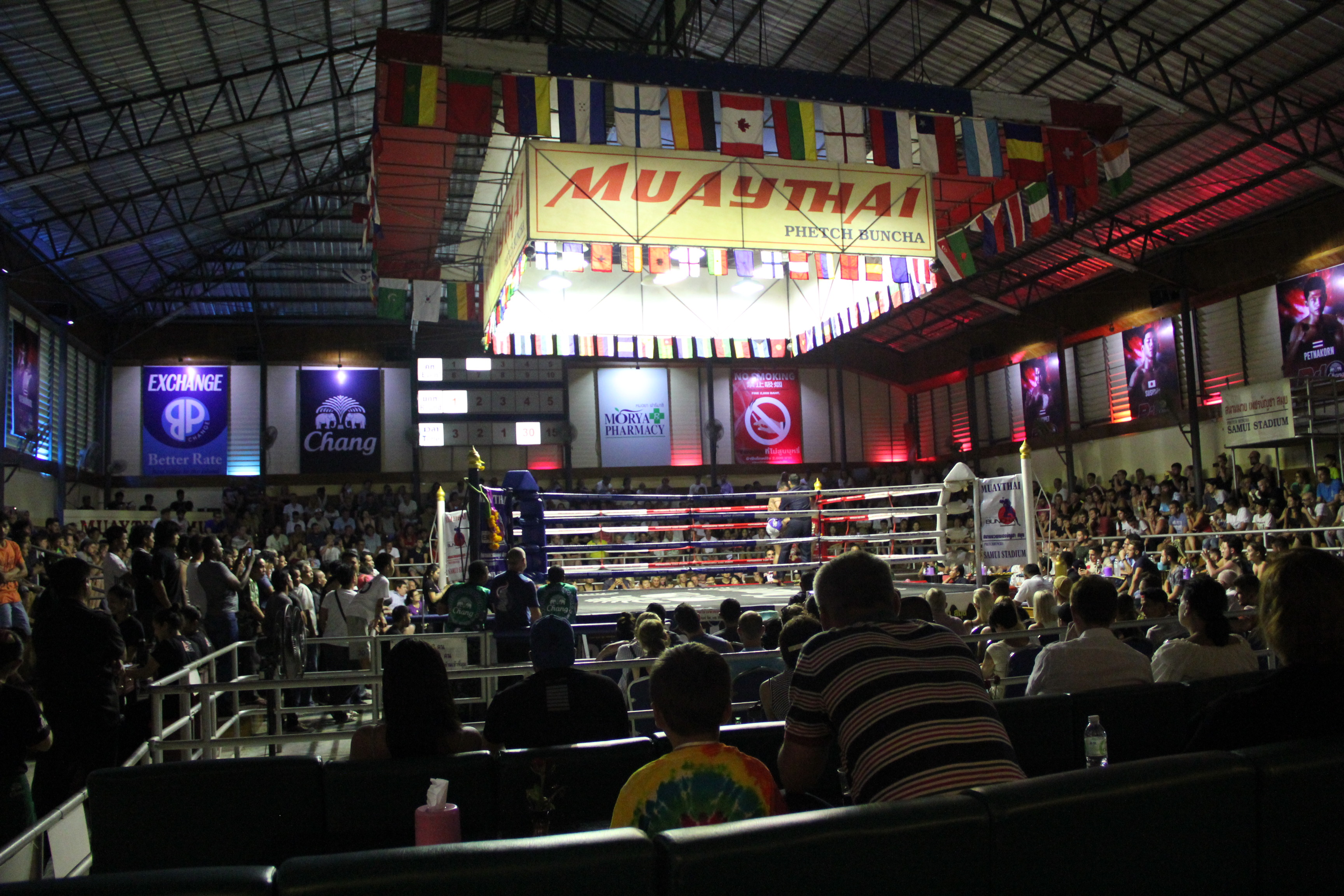 "Tickets to Thai boxing ""Muay Thai"" fights, Koh Samui, Thailand"