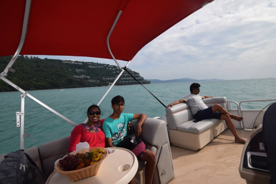 Cruises and fishing from the south of Koh Samui by Pontoon boat, Koh Samui, Thailand