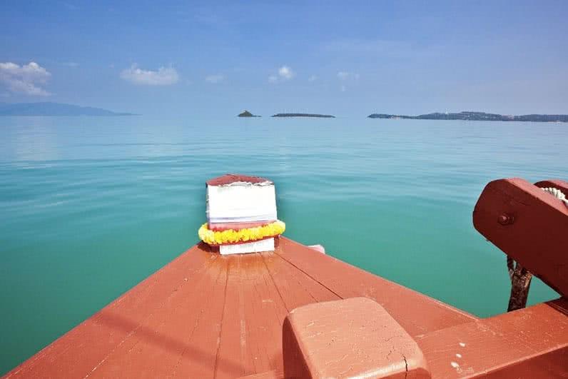 "Junk boat ""Red Baron"", Koh Samui, Thailand"