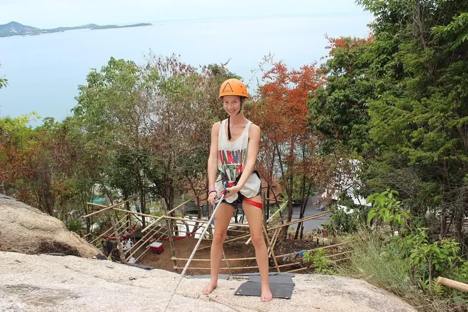 Rock climbing, Koh Samui, Thailand