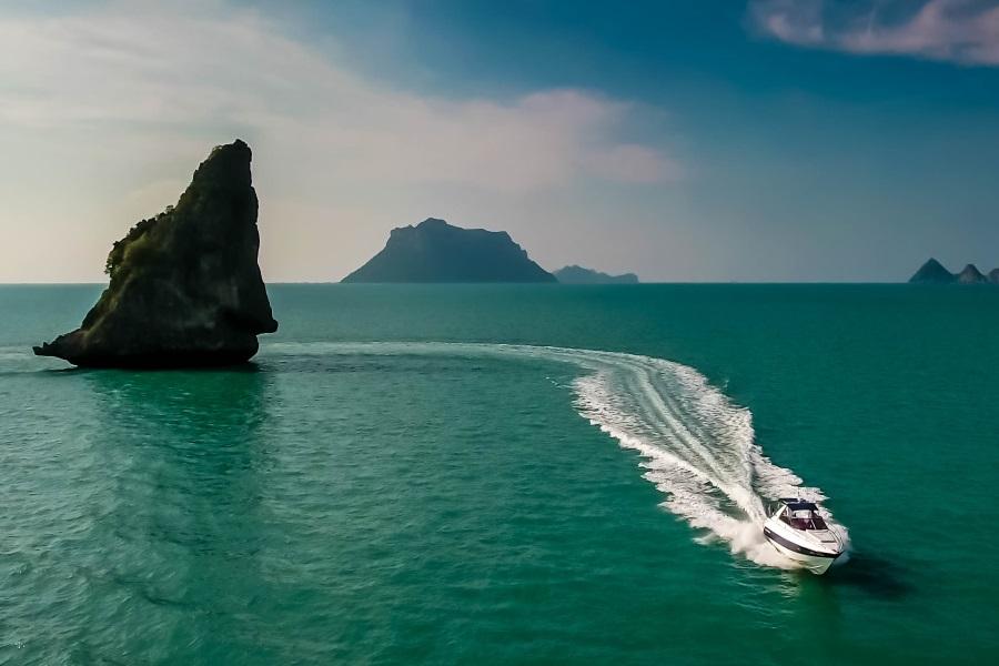 Sunseeker yacht, Koh Samui, Thailand